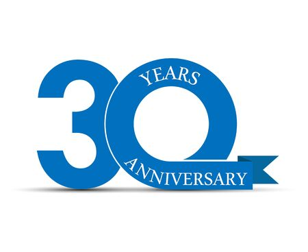 30 years anniversary, simple design, icon for decoration Stok Fotoğraf - 128686585