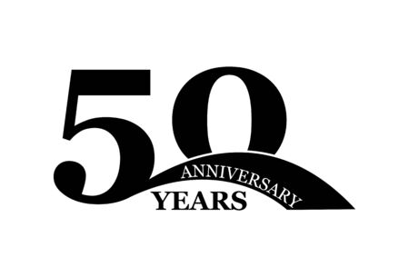 50 years anniversary, simple flat design, icon for design and decoration Stok Fotoğraf - 128686587