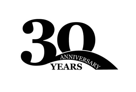 30 years anniversary, simple flat design, icon for design and decoration