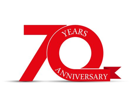 70 years anniversary, simple design, icon for decoration Stok Fotoğraf - 128686608