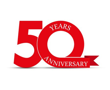 50 years anniversary, simple design, icon  for decoration Çizim