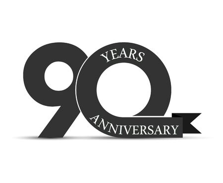90 years anniversary, simple design, icon for decoration Stok Fotoğraf - 128686615
