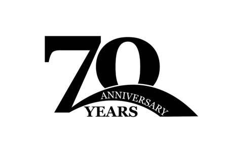 70 years anniversary, simple flat design, icon for design and decoration