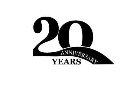 20 years anniversary, simple flat design, icon for design and decoration Illustration