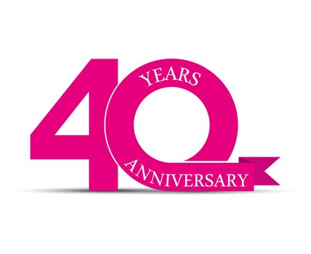 40 years anniversary, simple design, icon for decoration Illustration