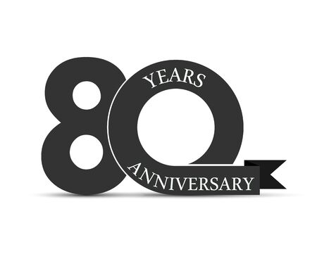 90 years anniversary, simple design, icon for decoration Stok Fotoğraf - 128686826