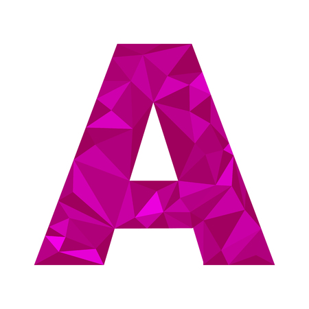 letter a in the polygonal style , simple design