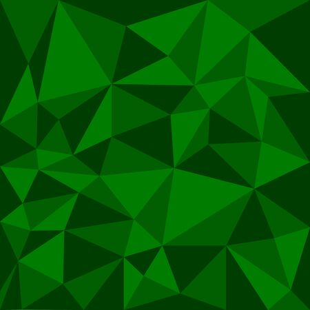 Abstract background in the polygonal style, green color Illustration