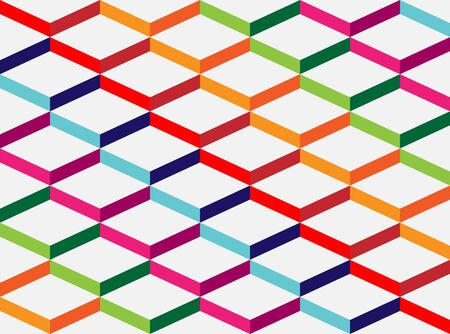 Abstract colorful geometric background, the simulation volume Illustration