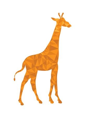 Giraffe pattern in polygonal style for design and decoration Çizim