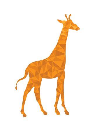 Giraffe pattern in polygonal style for design and decoration Ilustração