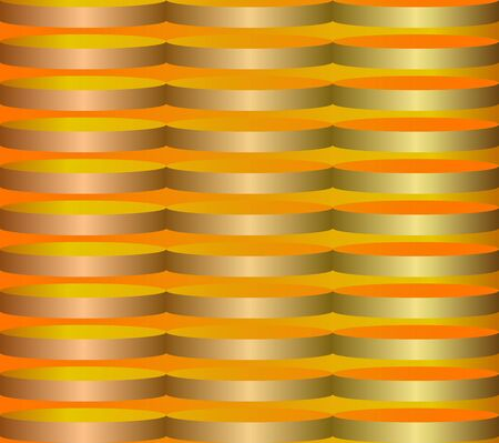 Abstract geometric background in gold and yellow, volume simulation Illustration
