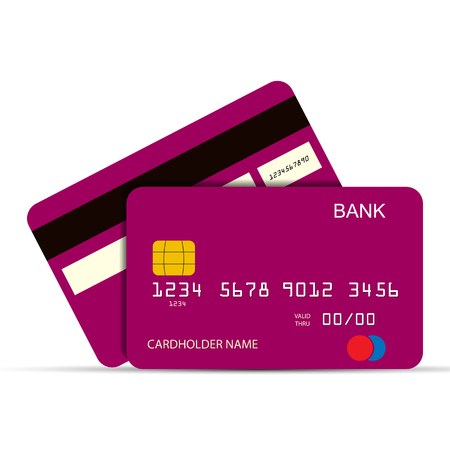 Bank payment card. Payment instrument, simple design