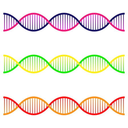 Icons set of DNA. The concept of polygonal DNA. DNA, genetic sign, flat design.
