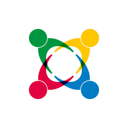 Symbol of unity of different people, flat design