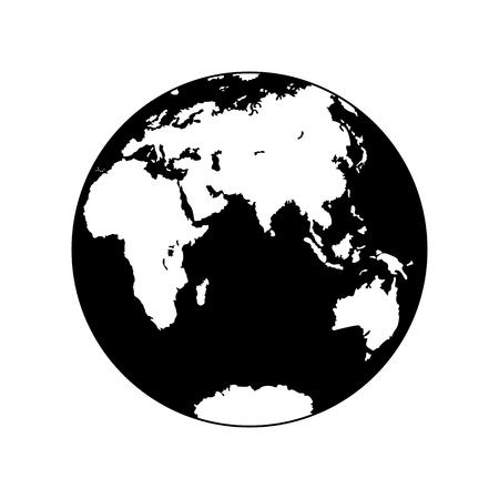Planète Terre, icône plate pour le design et la décoration.