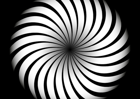 figure  is made up of white and black wavy lines
