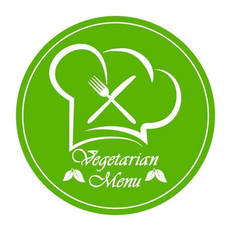 Logo to design a Vegetarian menu restaurant, catering or gastroservice, flat design