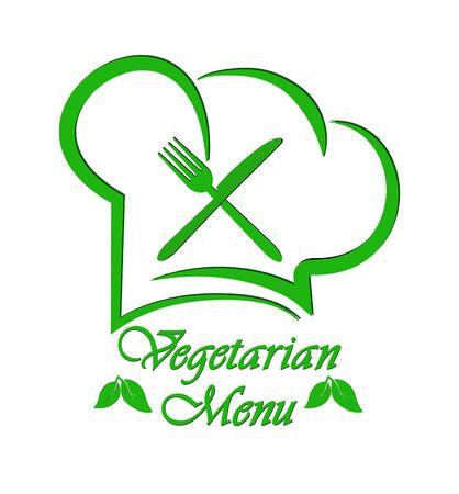Logo to design a Vegetarian menu restaurant, catering or gastroservice, flat design Logo