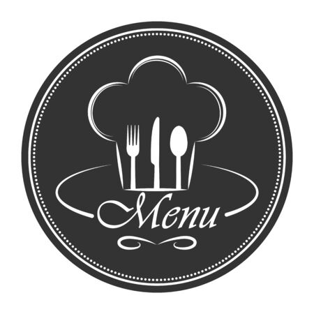 Template for design and decoration of restaurant menu, catering or gastro service, flat design Illustration