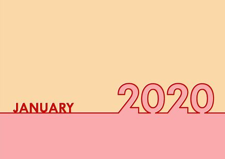 January 2020 template for congratulations or calendar