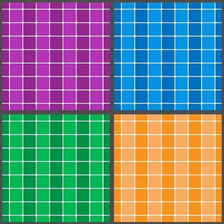 set of multi-colored geometric patterns of squares. Random colors. Ideal for textiles, packaging, paper printing, simple backgrounds and textures. Çizim