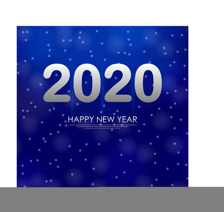 2020 year on a blue background with bokeh Stok Fotoğraf