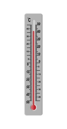 Thermometer for measuring the temperature of the air outside or indoors.
