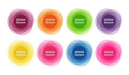set of colorful design elements. Banners for design and decoration Çizim