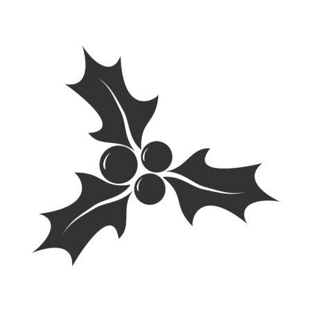 Icon of New Year's decoration for design and decoration, flat style Vektoros illusztráció