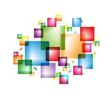 Colorful background with colorful intersecting squares. Modern random colors. Ideal for textiles, packaging, paper printing, simple backgrounds and textures.