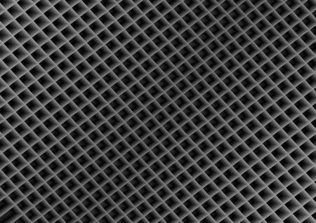 Abstract geometric black background with three-dimensional squares