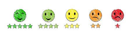 Ensemble d'icônes émotionnelles, design plat simple.