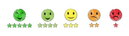 Set of emotional icons, simple flat design.