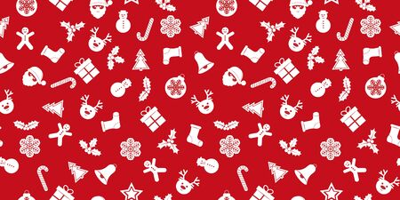 Festive new year seamless background with Christmas decorations. Suitable for textile, packaging, paper printing, simple backgrounds and texture.