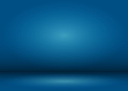 Blank blue Studio background with vignette. The blue background is illuminated by a light source. Çizim