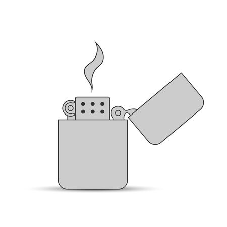 Icon of gas or petrol lighter. Flat design Ilustrace