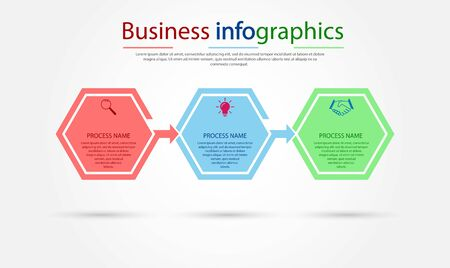Business infographics. Stages of successful business development, training or project promotion. Flat design.