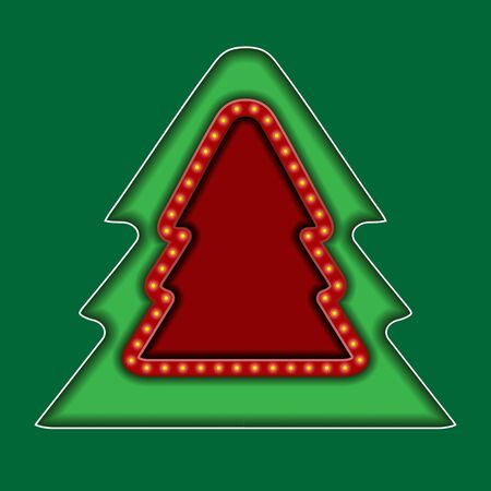 Surround background with Christmas tree and space for text or greeting.