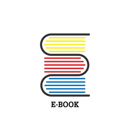 icon or logo to designate a bookstore, site or app, education, or community of book lovers