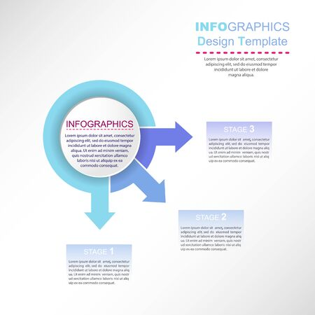 Infographics for visual design of business projects, business trainings, strategies and development Stock Illustratie