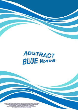 cover with abstract wave pattern for printed publications. Applicable for flyers, posters, banners or billboards and booklets