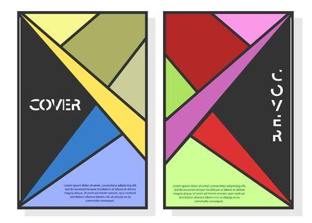 Design modifiable pour la couverture, format A4. Arrière-plan abstrait géométrique pour la conception de la couverture, de l'économiseur d'écran, des applications et des sites Web, des cartes de visite, des affiches et d'autres produits imprimés. Vecteurs