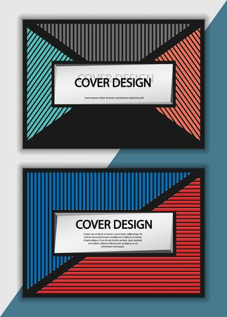 Editable design for the cover, A4 format. Geometric abstract background. for the design of the cover, screen saver, for applications and websites, for business cards, posters and other printed products. Ilustracja