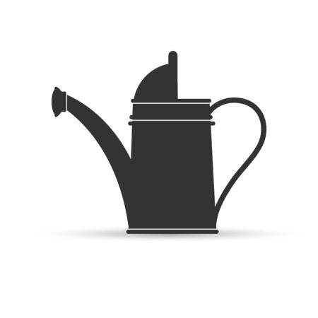Garden tool. Watering can for watering plants.. Flat design.