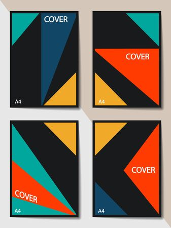 Editable cover design, A4 format. Geometric abstract background for the design of the cover, screen saver, for applications and websites, for business cards, posters and other printed products.