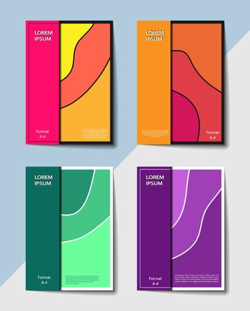 Editable cover design, A4 format. Abstract gradient background for the design of the cover, screen saver, for applications and websites, for business cards, posters and other printed products.