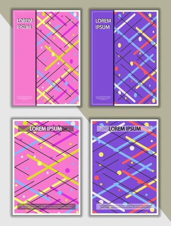 Editable design for the cover, A4 format.  abstract background with circles and lines for the design of the cover, screen saver, for applications and websites, for business cards, posters and other printed products. Ilustracja