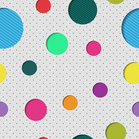 Abstract seamless color background with circles for packaging design, paper printing, simple backgrounds and texture, posters and banners. Standard-Bild - 134417801