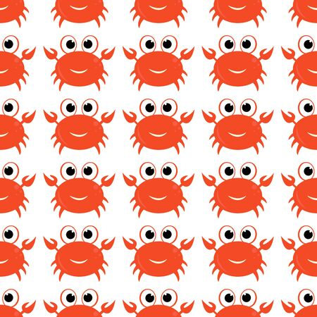 Seamless background with cartoon crabs for packaging design, paper printing, simple backgrounds and texture, posters and banners and Wallpaper.